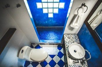 bathroom Minca Finca Hostal Bolivar Colibri
