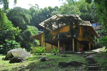 Minca - House front from river