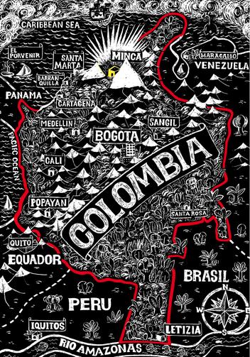 mapa Minca